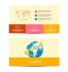 Paper Business Cards Template vector image