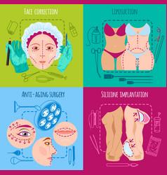 Plastic surgery set vector
