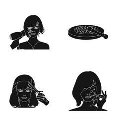 salon care hygiene and other web icon in black vector image