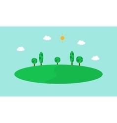 Simple hill landscape flat vector