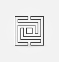 Square maze or labyrinth icon vector