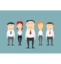 Successful business team with confident leader vector image
