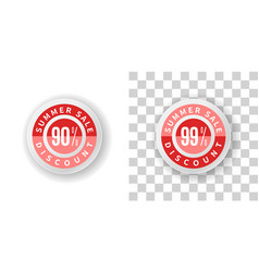 Summer sale sticker 90 and 99 percent discount vector