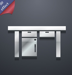 Table icon symbol 3D style Trendy modern design vector image vector image