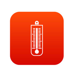 thermometer icon digital red vector image