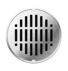 Top view of the closed sewer manhole vector
