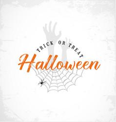 typographic halloween design element vector image vector image