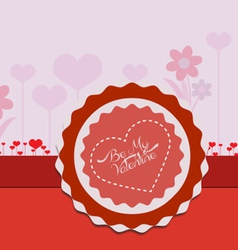 Valentine card flower vector