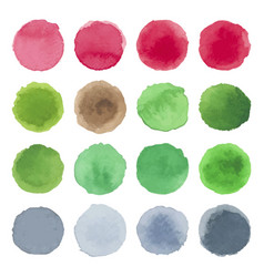 Watercolor circle texture multicolored blots vector