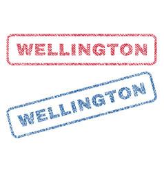 Wellington textile stamps vector