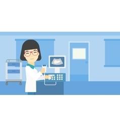 Female ultrasound doctor vector image