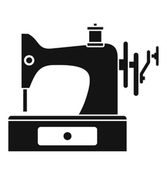 Sewing machine icon simple style vector