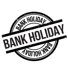 Bank holiday stamp vector image