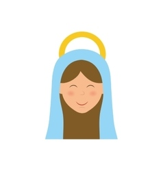 Holy virgin mary cartoon vector