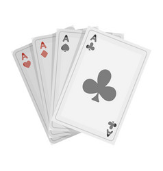 Playing plastic cards for playing poker in the vector