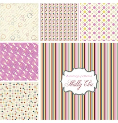 Shabby chic patterns set vector