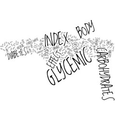 The effect of the glycemic index on the body text vector