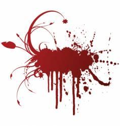 grunge splatter design vector image