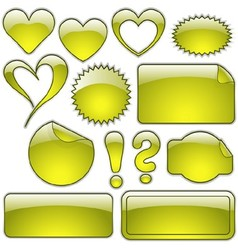 Yellow glass shapes vector