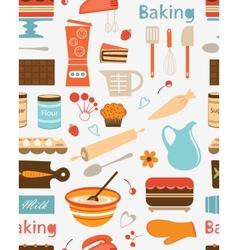 Baking seamless pattern vector