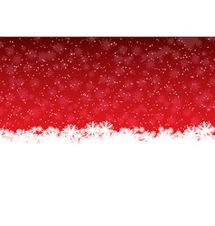 Red showflakes vector