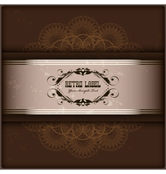 Vintage invitation card on grunge background with vector