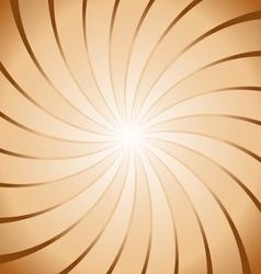 Abstract brown ray twirl background vector