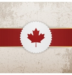Canada paper badge with red ribbon vector