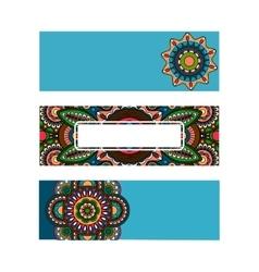 Horizontal banner mandala ornament template vector