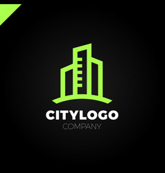 abstract city building logo design concept symbol vector image vector image