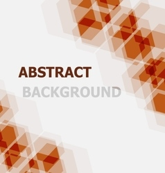 Abstract orange hexagon overlapping background vector image vector image
