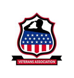 American veteran shield icon vector