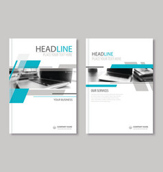 Annual report brochure flyer design template vector