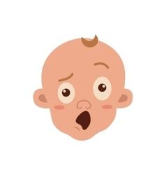 Baby facial expression vector image vector image