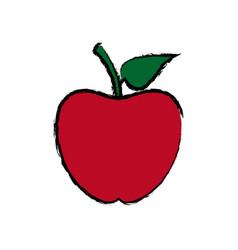 back to school apple symbol icon vector image