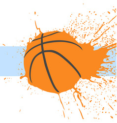 basketball background vector image vector image