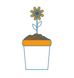 beautiful flower gardening vector image vector image