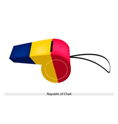 Blue yellow and red stripe on chad whistle vector