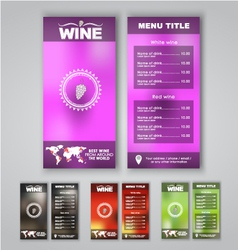 Blur menu wine vector image