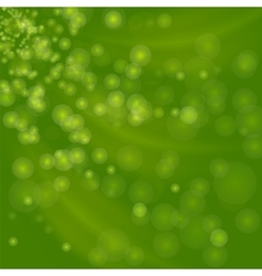 Blurred Lights Green Background vector image vector image