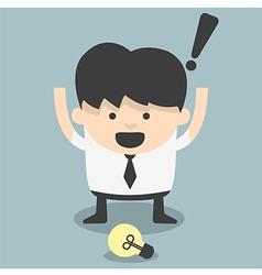 Businessmen see ideas fortuitous vector