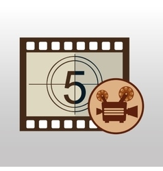 Camera movie vintage counting strip design vector