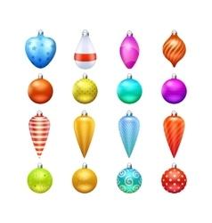 Christmas Toys Icons Set vector image