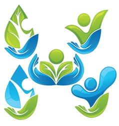collection of ecological people vector image