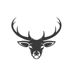 Deer Head Silhouette Isolated On White Background vector image