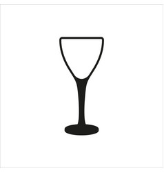 Empty wine glass icon monochrome style vector
