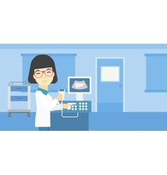 Female ultrasound doctor vector image vector image