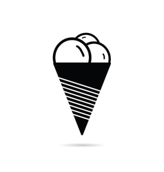 ice cream fresh black vector image