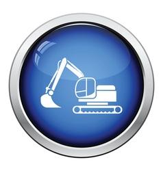 Icon of construction excavator vector image