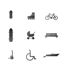 Icons for active leisure in the park vector